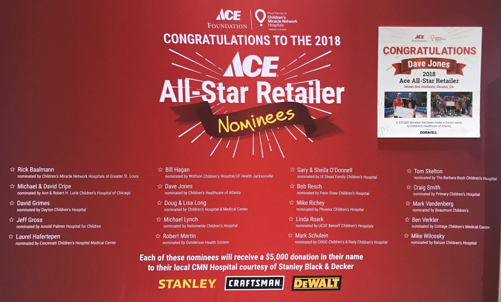 d2cd374c5243a8 Ace Hardware Foundation recently announced the 2018 All Star Retailer Award